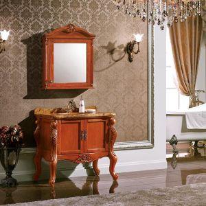 Classic Solid Wood Bathroom Cabinet
