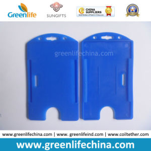 open faced holder blue hard plastic id card pack - Plastic Id Card Holder