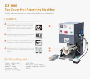 Toe Cover Hot Attaching Machine pictures & photos