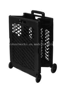 Extra Capacity Plastic Foldable Shopping Cart (FC404KP) pictures & photos