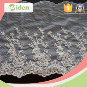 China Swiss Voile Lace Beaded Lace Applique Guipure Lace Trim pictures & photos