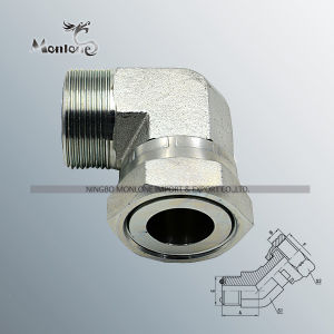 Threaded Straight Direct Hose Connector Hydraulic Hose Fitting pictures & photos