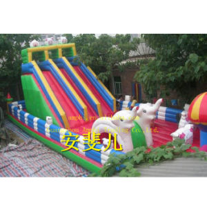 Slide Type and PVC Tarpaulin/Oxford Cloth, PVC Material Large Inflatable Pool Slide