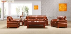 New Design Antique Leather Reception Sofa pictures & photos