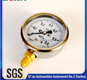 Shock Resistance Manometer with Ss Case Brass Connector Hot Export to North Europe pictures & photos