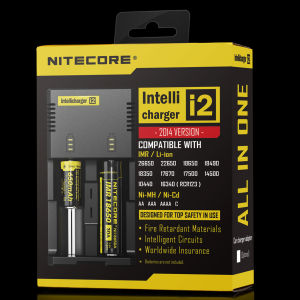 New Nitecore I2 1A Dual USB Charger 18650 Li-ion Battery Charger