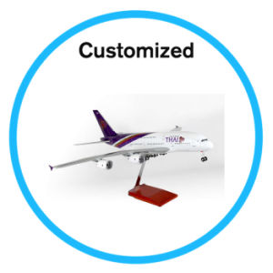 Plastic Model Airbus Airplane with LED Light pictures & photos