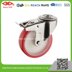 200mm PU Swivel Plate Castor (P104-26D200X50) pictures & photos