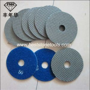 "ED-1 Diamond Electroplated Flexible Polishing Pad (diameter 3-8"")"