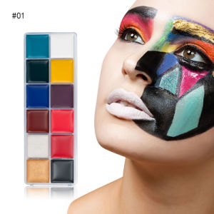 China Professional 12 Color Face Paint Halloween Makeup Body Paint 12 Color Washable Body Painting Kit Art Party Non Toxic Good Quality China Face Paint And Halloween Face Paint Price