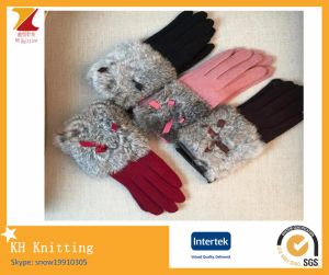Acrylic Cony Hair Touch Screen Winter Gloves