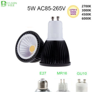5W Dimmable COB GU10 LED Spot Lighting