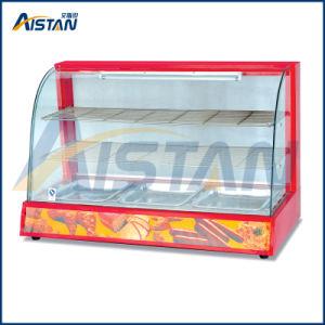 Dh828 Curved Glass Warming Showcase of Bakery Equipment pictures & photos