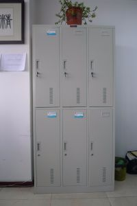 Knock Down Popular Colorful 6 Doors Metal Employee Staff Locker pictures & photos