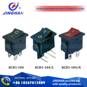 Kcd1-104 4 Pin Switch 21*15mm, Normal on-off Switch pictures & photos