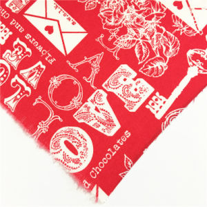 Fashion Red T/C Polyester Cotton Garment Fabric for Dress/Shirt/Skirt/Bag/Shoes pictures & photos