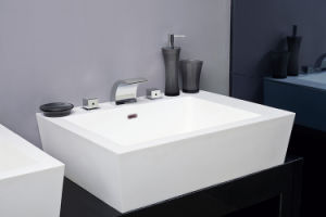 Sanitary Ware Solid Surface Stone Hotel Bathroom Wash Basin pictures & photos