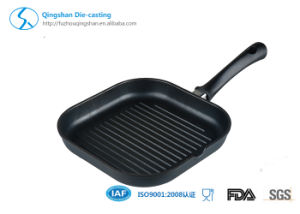 Hot Selling 24cm Cast Non-Stick Fry Pan/BBQ Pan/Grill Pan with Foldable pictures & photos