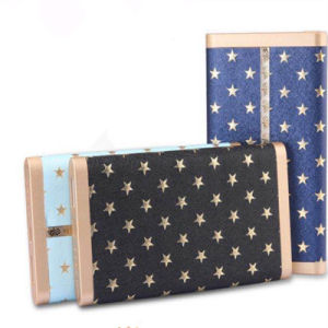 New Portable PU Leather Power Bank Mobile Phone Charger 4000mAh