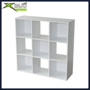 9 Cube Wooden White Bookcase Shelving