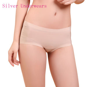 Anti-Bacterial Silver Fiber Nylon Seamless Underwear for Women pictures & photos