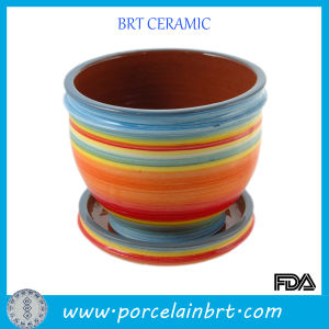 Colorful Painted Ceramic Porcelain Garden Pot pictures & photos