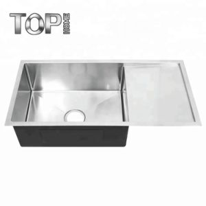 Manufacturers Offer Handmade Stainless Steel Single Bowl Kitchen Sink with  Drain Board