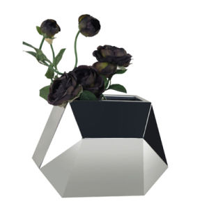 China Office Decorative Stainless Steel Flower Container Pots Flower