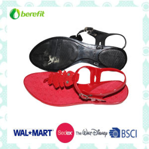 Lady Sandals, PVC Material, Applique on The Upper pictures & photos