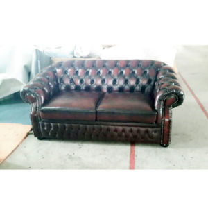 Luxury Italian Leather Chesterfield Sofa with Sofa Bed Function MS-30# pictures & photos
