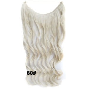 1 PC Halo Hair Extensions Hairpiece Synthetic Flip Hair Extension Fish Line Hair Accessories