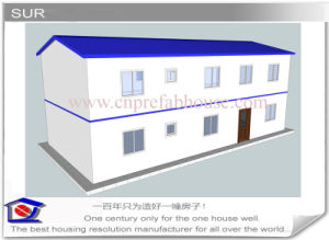 Two Stories Prefabricated House with Good Insulation Work pictures & photos