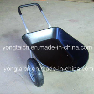 78liter Double Wheel Poly Tray Wheelbarrow pictures & photos