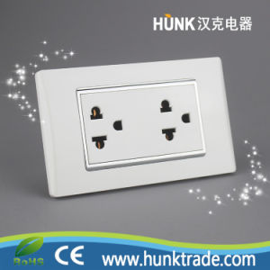China Galvanized Silver Frame Universal Socket Us Power Outlet