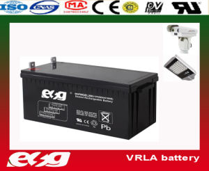 AGM 12V200ah Deep Cycle Battery for Power Supply