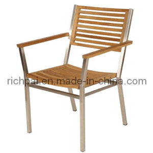 Outdoor / Garden Furniture - Stainless Steel and Teak Chair (RCT015)