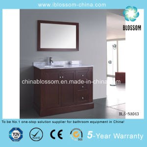 Natural Wood Freestanding Bathroom Vanity MDF Bathroom Cabinet (BLS-NA043) pictures & photos