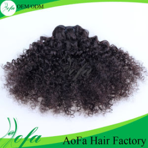 Top Beauty Virgin Hair Indian Hair Extension Kinky Bulk Hair pictures & photos