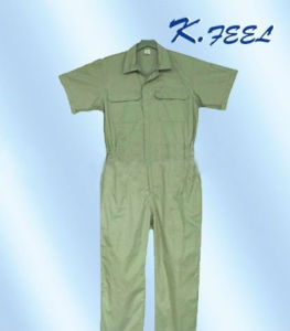 Men′s Cotton Short Sleeve Coveralls Workwear (KFLTF-011)