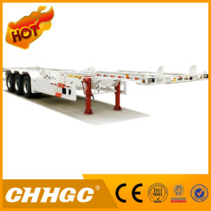 Hot Sale 3axle Skeleton Container Semi-Trailer with Floor