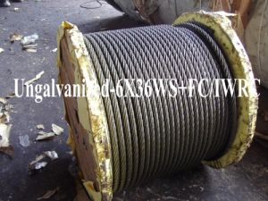 Ungalvanized Steel Wire Rope (6X36WS+FC/IWRC) pictures & photos
