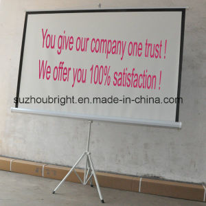 Manufacture 70X70 Portable Tripod Projector Projection Screen