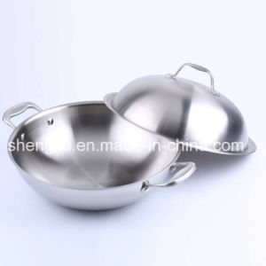 18/10 Stainless Steel Cookware Chinese Wok Cooking Frying Pan (SX-WO32-8)