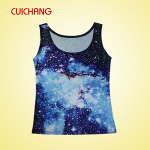 Wholesale Polyester Heat Transfer Printing Custom Design Sports Wear Women Gym Singlet Bx-032