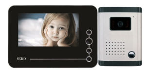 7 Inch Hands Free 4 Wires or 2 Wires Color Video Door Phone