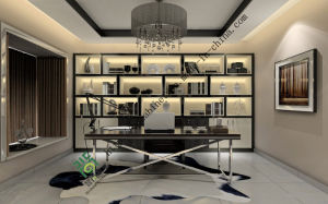 Fashionable MDF Wooden Living Room Bookcase pictures & photos