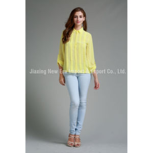 Women′s Ladies Poly Long Sleeve Blouse