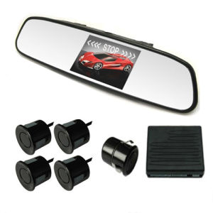 3.5inch Visible Mirror Parking Sensor with Camera (Q-090)