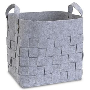 China Manufacturer Wholesale Price Multi Functional Knitted Non Woven Polyester Grey Felt Storage Basket
