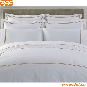 Embroidery Hotel Bedding Set China Supplier 100% Cotton Bedding Set pictures & photos
